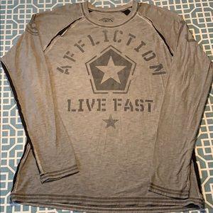 Affliction long sleeve shirt